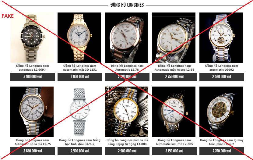 Đồng hồ fake được chào bán công khai với giá rẻ